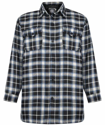 KAM Check Shirt With Quilt Lining